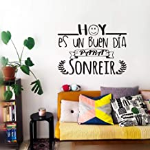 Cartoon Stickers for Kids Wall Hoy ES Un Buen Dia para Sonreir for Living Room Nursery Kids Room Play Room Baby Room