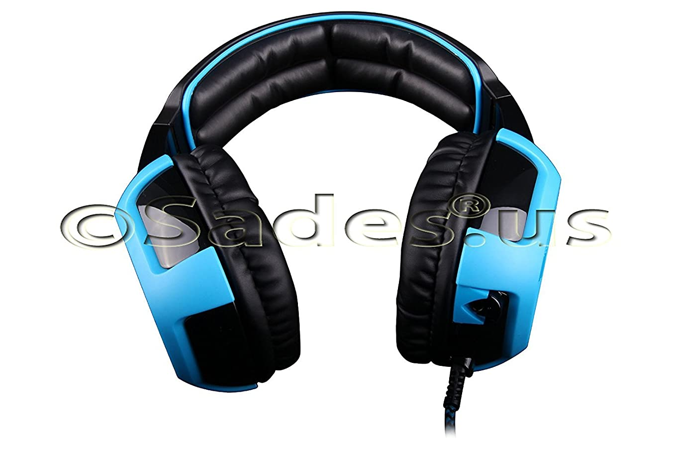 Sades Shaker Wired 7.1 Stereo Gaming Headset with Removable Noise Cancelling Mic