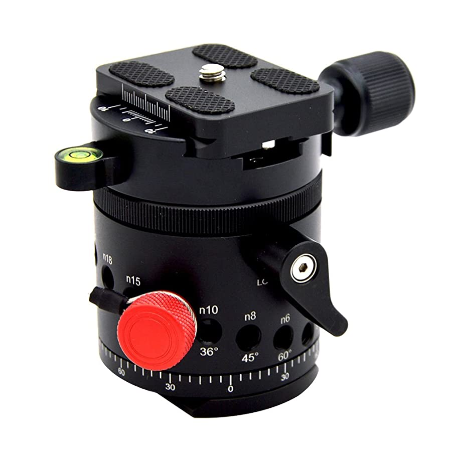kesoto 90 Swivel Panoramic Panorama BallHead Clamp Indexing Rotator with Quick Release Plate for Camera DSLR DH55D