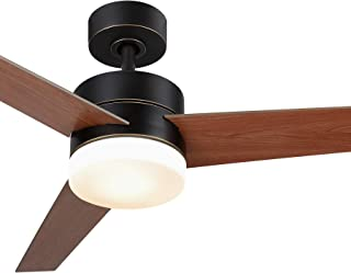 CO-Z 52 Inch Ceiling Fan Light Old Bronze Finish with 3...