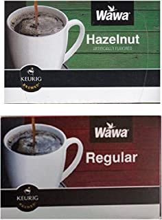 Wawa Single Cup Coffee K-Cups for Keurig Brewers - 12 Count (Hazelnut) & 12 count (Original)