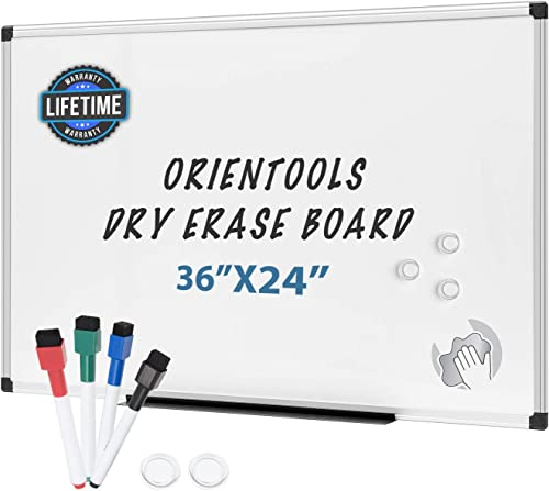 discount Magnetic new arrival Dry Erase Board/Whiteboard with Silver Aluminum Frame, Wall Mounted White Board for Office, Home new arrival & School (36 X 24 Inches) outlet online sale