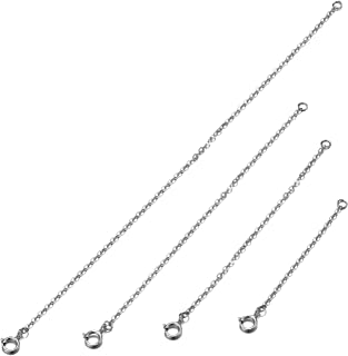 Christmas Jewelry Gift Sterling Silver Necklace Bracelet Chain Extender for Women 18K Gold Filled Set of 4: 2