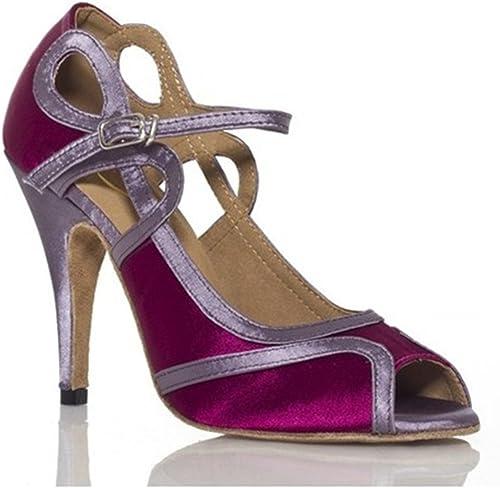 YFF Cadeaux femmes Dance danse danse latine Dance Tango chaussures 8.5cm,violet,42