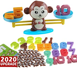 More Counting Numbers and Monkey Balance Cool Math Game STEM Montessori Preschool Learning Educational Toys for 3 4 5 Year olds First Grade Children Kids Kindergarten Board Game (93-Piece Set)