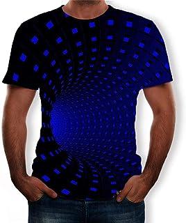 Blivener Optical Illusion T Shirt 3D Printed T Shirts for Men Cool Tshitts Slim Summer Mens Tee Shirts Short Sleeve 3D Top...