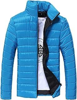 fanmeili-AU Men Full-Zip Winter Down Jacket Long Sleeve Stand Neck Jacket Coat