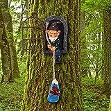 Estatua de Gnomo de Resina de Jardín Abrazador de Árbol de Elfo Fuera de Puerta Peeker de Jardín Escultura de Árbol de Arte de Patio Gnomos Trepadores Abrazador de Árboles para Decoración