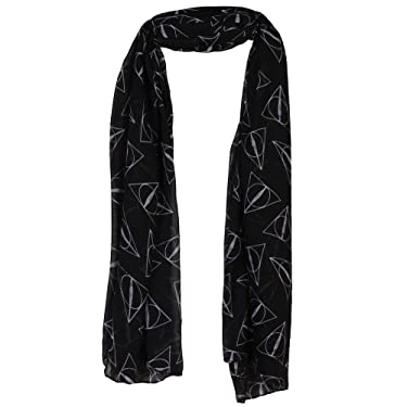 Harry Potter Deathly Hallows Fashion Scarf, Black, OS