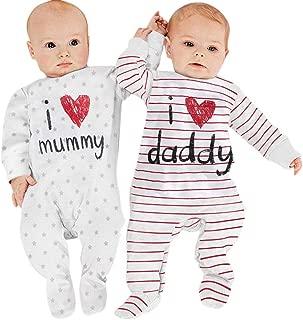 PYL Unisex Baby Kleinkind Strampler niedlich Neugeborene Einteiler Fuchs Streifen Langarm Tops Hut Sets Pyjama Body