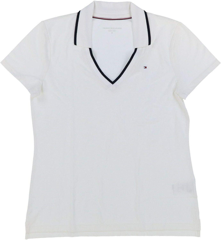Tommy Hilfiger Womens Mesh Polo Max Save money 45% OFF Shirt V-Neck