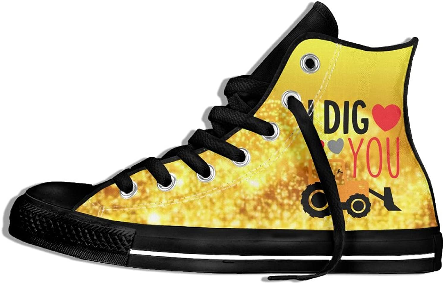 I Dig You Happy Valentines Day High Top Classic Casual Canvas Fashion shoes Sneakers For Women & Men