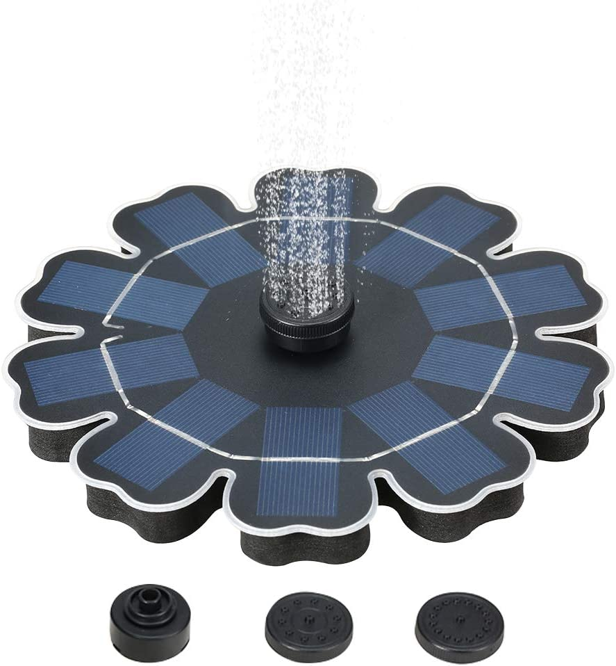 Solar Sale special price Fountain Pump with Battery 2.5W Ranking TOP1 Freestanding Brush Backup