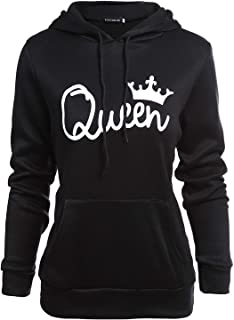2019 Cute King Queen Hoodie Oversized Sweatshirt Womens Clothing Harajuku Fashion Pullover Plus Size