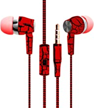 New Fashion Design Nylon Braided Crack Earphone Cloth Rope Earpieces Stereo Bass MP3 Music Headset with Microphone for Cellphone MP3 MP4 (Red)