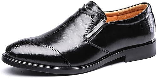 JIALUN-des Chaussures Escarpins Formels à Semelle Souple en Cuir véritable Oxford pour Homme (Couleur   Noir, Taille   8 MUS)