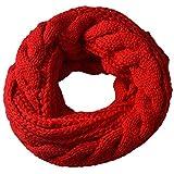 Miobo Strick Loop Schal, Winterschal, Wolle warmen, Hochwertiges, Unisex mit Einheitsgröße, 65 x 30cm, Rot
