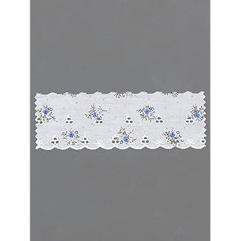 Tira encaje puntilla de polialgodón bordada en algodón costura 5 cm ancho 13,8 m de largo: Amazon.es: Hogar
