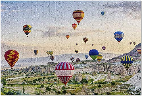 YYTOOF HD Capadocia Turquía - Fiesta del Globo al Atardecer 9025290 (¡Rompecabezas Premium de 500 Piezas para Adultos 52*38cm Hecho en EE. UU.!)