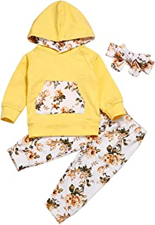 H.eternal Baby Boys Long Sleeve Cartton Elepant Hoodie Sweatshirt Tops and Pants Outfit with Kangaroo Pocket Winter Clothes Christmas Tracksuit Sets