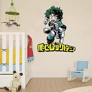 My Hero Academia Wall Decal Izuku Midoriya | Deku Colour Print Wall Funny Anime Art Decor Kids Room Decoration