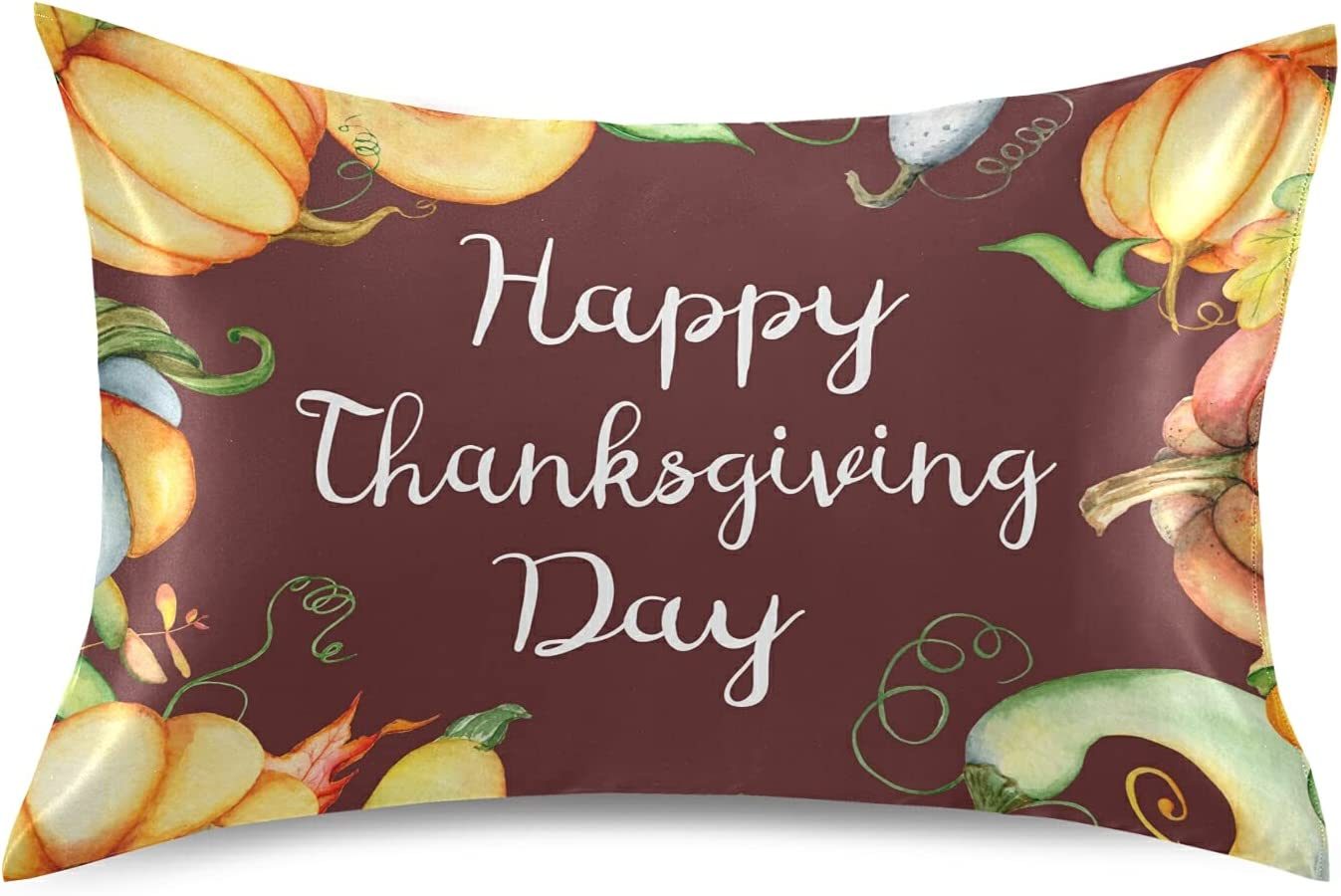 Thanksgiving Fall Autumn Pumpkin Max 51% OFF Pillowcase Hair Skin for St and SEAL limited product