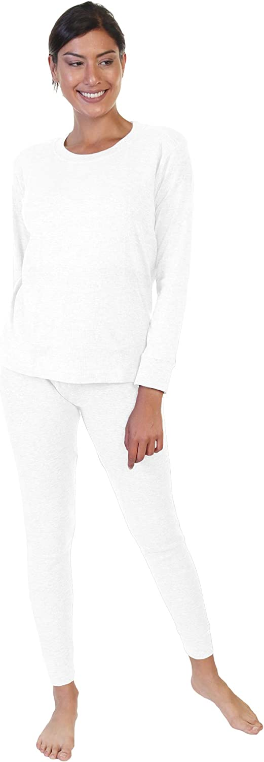 Angelina Women's and Men's Soft and Warm Long Johns Cotton Thermal Underwear Set