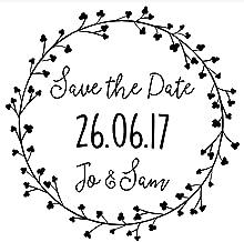 Gl/ückw/ünsche ideal f/ür Hochzeit Einladungen je 6,5cm x 4cm x 2,2cm Einladung | Men/ü | Save The Date Ideen mit Herz Stempel-Set 3 Holzstempel mit Spr/üchen