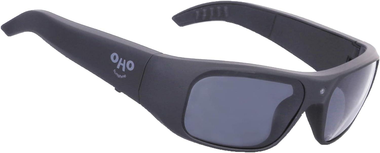 1080P Full HD Video Recording Camera with Polarized UV400 Protection Safety Lenses,Unisex Sport Design 256GB OhO Sunshine Waterproof Video Sunglasses