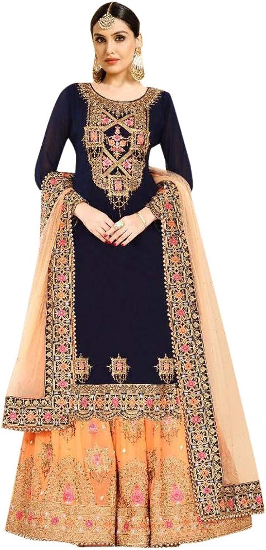 Indian Hit Designer Collection Heavy Salwar Kameez Suit Sharara Party Wear 7311