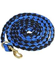 Blusea Caballo Trenzado Cuerda riendas Cuerda Jinete del Caballo Cuerda Principal Braid Caballo Cabestro con Broche de Bronce 2.0M / 2.5M / 3.0M, Multicolor