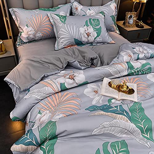 Exlcellexngce Bedding Set Double Bed,Summer Silk Sheets, Tencel Ice Silk Duvet Cover, Silky And Breathable Satin Wedding Bedding Set Of 4-S_220*240cm(87' *94') 4pcs