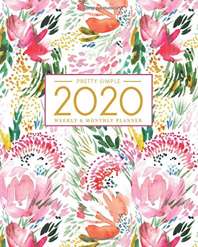2020 Planner Weekly and Monthly: January to December: Watercolor Cover (2020 Pretty Simple Planners)
