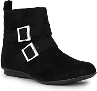 Bruno Manetti Women (JD-27-New) Black Women Suede Leather Boots