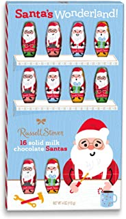 Russell Stover Solid Milk Chocolate Santas, 4 oz. Box