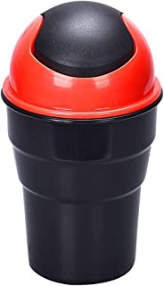 Yolu Car Garbage Can, Car Auto Garbage Trash Can Automotive Waste Storage Red Use for Auto Car, Home, Office, Kitchen, Living Room