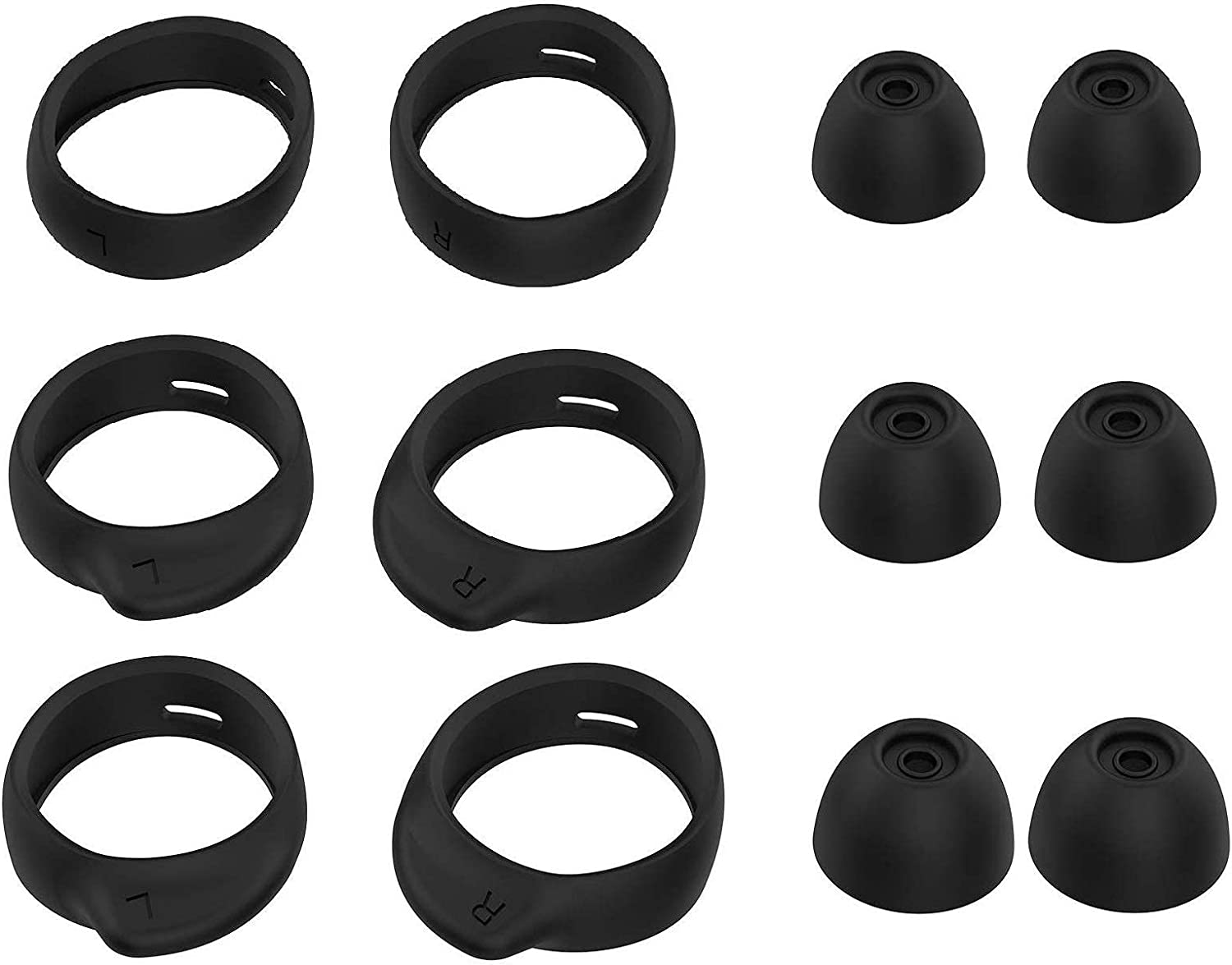 Replacement Earbud Tips 4 Pairs Silicone Ear Tips Earbuds Buds Set ...
