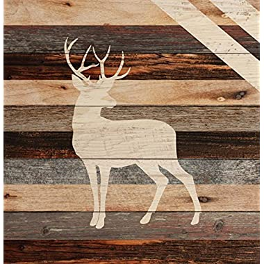 Standing Buck Deer Rustic 18 x 17 Wood Pallet Wall Art Sign Plaque