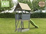 EXIT Aksent Spielturm / mit Aussichtsplattform, Sandkasten, Rutsche + Leiter / Material: Nordische...