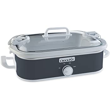 Crock-Pot 3.5-Quart Casserole Crock Manual Slow Cooker, Charcoal