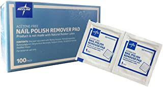 MEDLINE MDS090780 Nail Polish Remover Pads (Pack of 100)