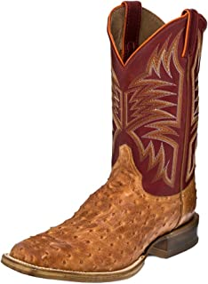 Justin Mens Exotic CPX Square Toe Red Boots