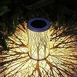 Solar Lantern Outdoor Lights Metal Hanging Garden Lantern for Patio,Courtyard, Party, Walkway,Terrace, Garden, Lawn Decorative (1 Pack) (White)