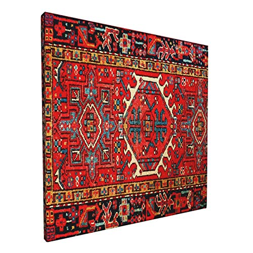 Iran Persian Oriental Iranian Ethnic Traditional Tribal Art Prints Canvas Wall Art Poster Wall Hanging Oil Painting Art Work Mid Century Home Decor for College Dorm 12x12 Inch