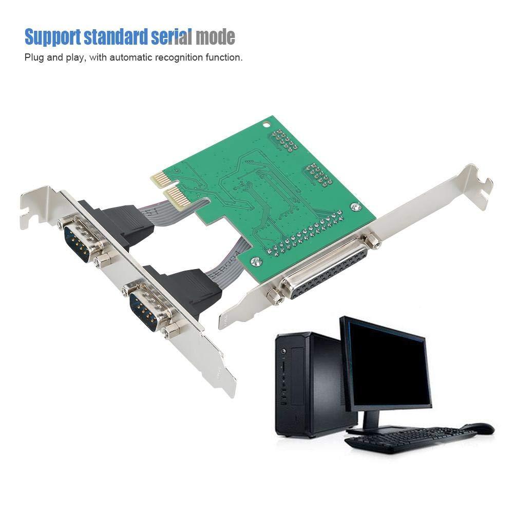PCI-E Tarjeta de Expansión,2 Puerto Serie 1 Puerto Paralelo Tarjeta Vertical,Función de Reconocimiento Automático,Adaptador Tarjeta Vertical para MSDOS / WINDOWS3X / 9X / NT / WIN2000 / LINUX: Amazon.es: Electrónica