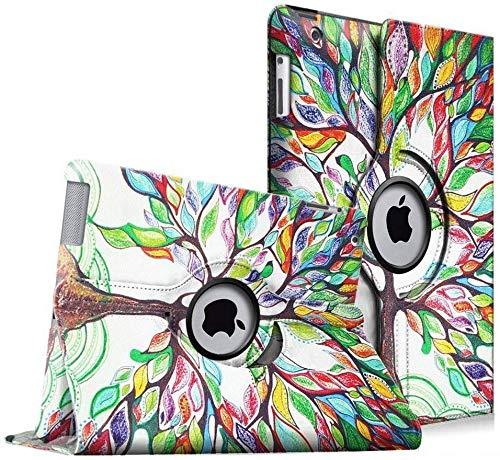 Fintie Hülle für iPad 2 / iPad 3/ iPad 4-360 Grad verstellbare Schutzhülle Cover mit Standfunktion, Auto Sleep/Wake für iPad mit Retina Display (iPad 4. Generation), iPad 3 & iPad 2, Liebesbaum