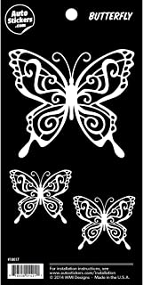 Butterfly Family Vinyl Car Stickers 3 Decals
