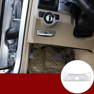ABS Chrome Car Electronic Hand Brake P File Decorative Cover For Benz GLK X204 C Class W204 2008-2014 E-Class W212 2010-2014 (Silver)