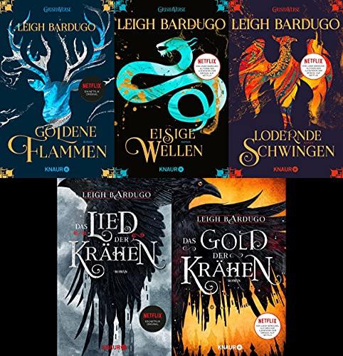 Bücher zur Shadow and Bone Serie - Die Legenden der Grisha + Die Krähen-Saga plus ein exklusives Postkartenset