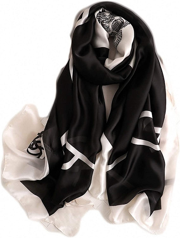 Hijab Summer Women Scarves Soft Long Print Silk Scarves Lady Shawl and Wrap Pashmina Bandana Beach Stoles